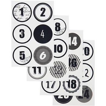 Números del calendario de Adviento - 4 hojas stdas