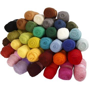 Surtido de lana cardada - 35x100 gr