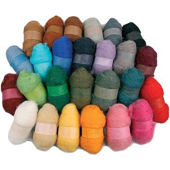 Surtido de lana cardada - 26x25 gr