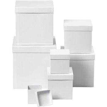 Cajas cuadradas - 7 unidades