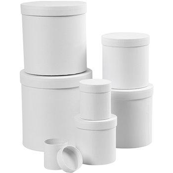 Cajas redondas - 7 unidades