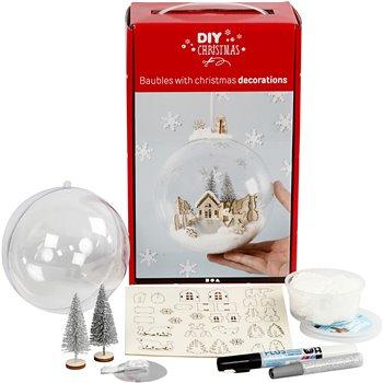 Kit para adorno navideño con decoración interior