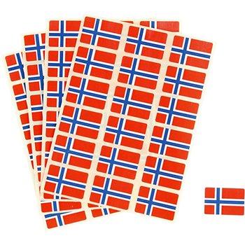 Banderas pegatinas - 72 unidades