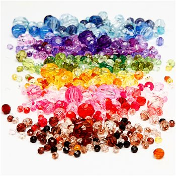 Faceted Bead Mix - 7x250 gr