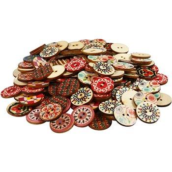 Botones de madera - 180 unidades