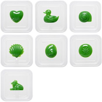 Moldes de plástico - 7 unidades