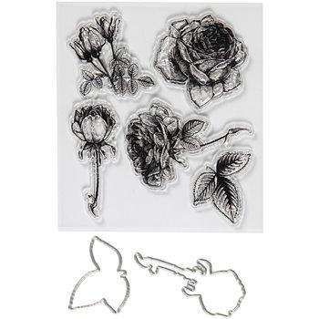 Sellos transparentes, grabado en relieve y troqueles - 1 paquetes