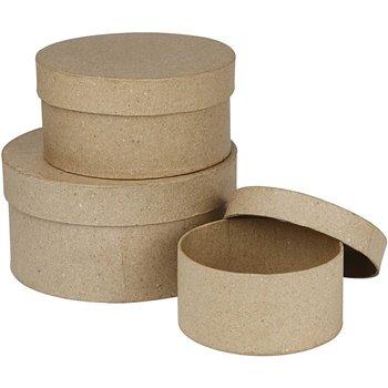 Cajas redondas - 3 unidades