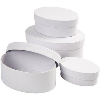 Cajas ovaladas - 4 unidades
