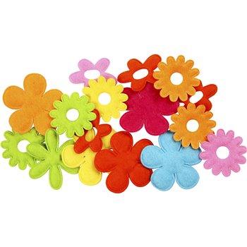 Flores de fieltro - 16 unidades