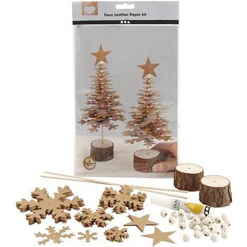 Árboles de Navidad de cuero sintético - 1 set