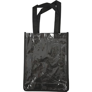 Bolsa con frontal de plástico