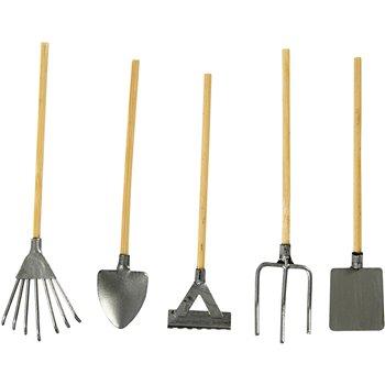 Herramientas de jardín en miniatura - 5 unidades