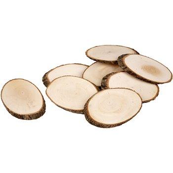 Rodaja de madera - 12 unidades