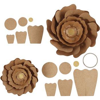 Flores de papel - 2 unidades