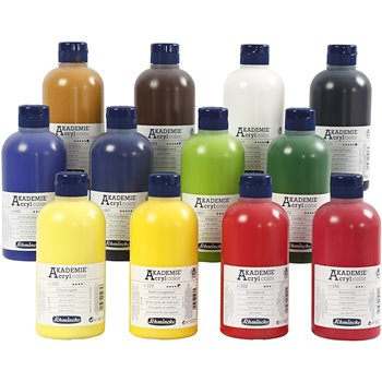 Color acrílico Schmincke AKADEMIE® - 12x500 ml