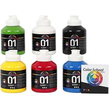 Pintura acrílica A-Color - 6x500 ml
