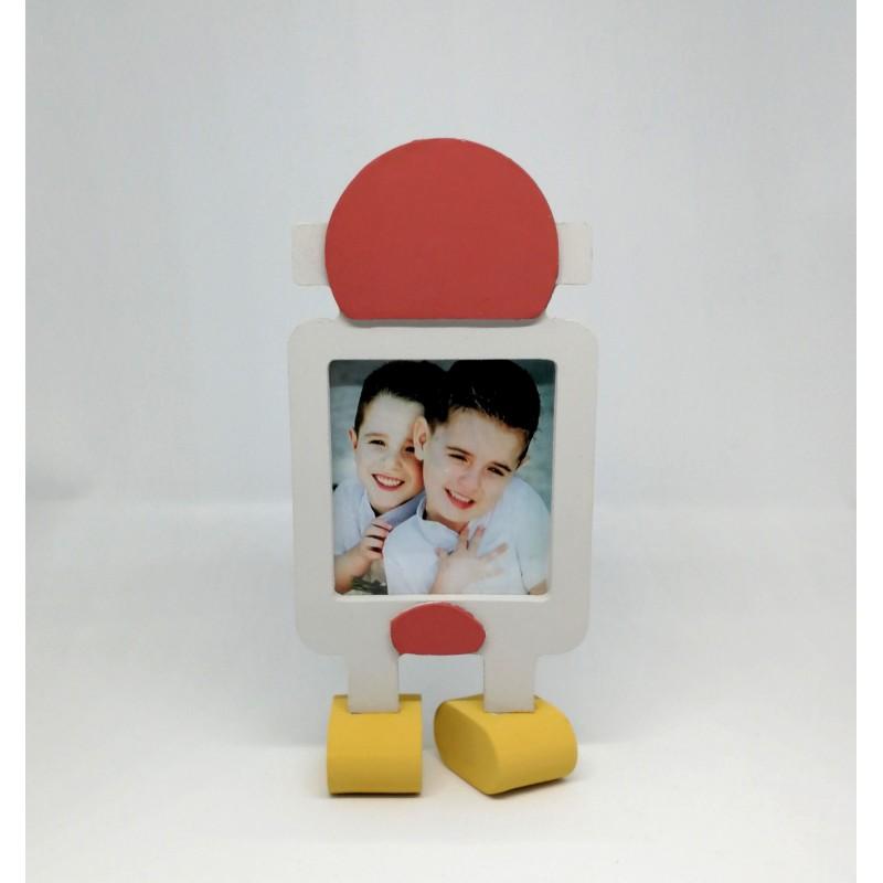 marco de fotos forma robor de madera manualidades